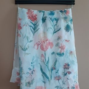 85inch sheer floral panel